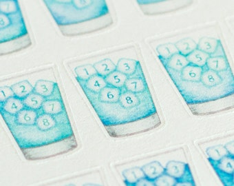 Hydrate ~ Daily Water Intake / Hydration Tracker  - Watercolor Planner Stickers