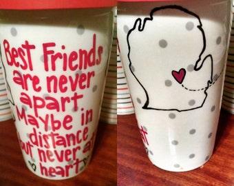 Long Distance Friendship Travel Mug