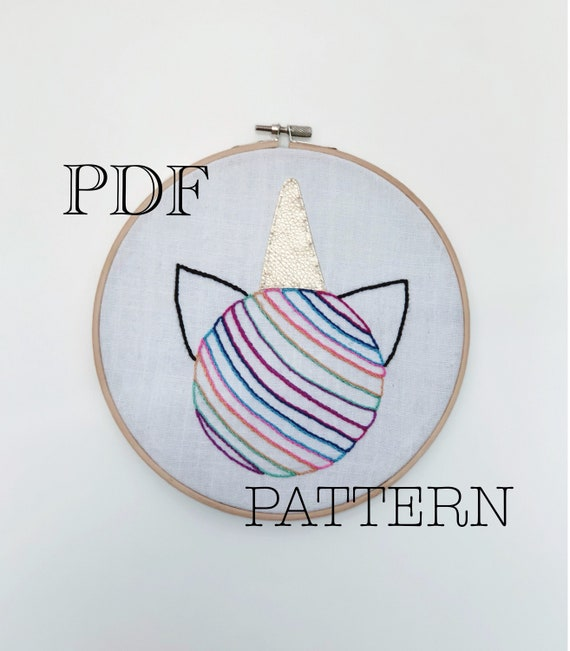 Tutorial Unicornio Bordado a Mano DIY Patron PDF Bordado a | Etsy