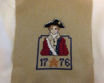 American Revolution Finished Cross Stitch