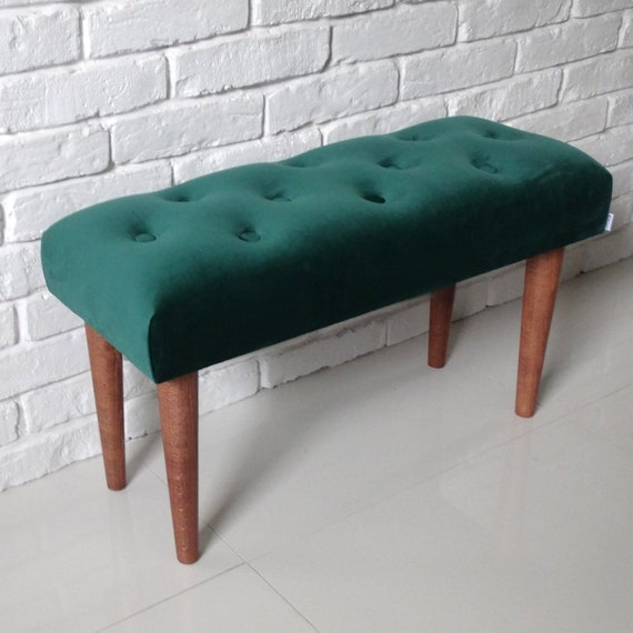 Stupendous Modern Bench Velvet Scandinavian Style Ottoman Kids Room Living To Size Soft Green Velvet Decor Seat Upholstered Decoration Lobby Hallway Machost Co Dining Chair Design Ideas Machostcouk