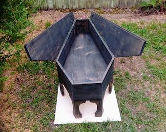 Coffin Coffee Table,Coffee Table,Coffin Storage,Coffin Decor,Coffin Table,gothic Coffin,Coffee Table Storage,Gothic Coffee Table,handmade