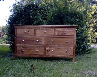 Dresser,Bedroom Dresser,Solid Wood Dresser,Bedroom Furniture,Handmade Dresser,Large Dresser,Custom Order Dresser,Rustic Style Dresser,