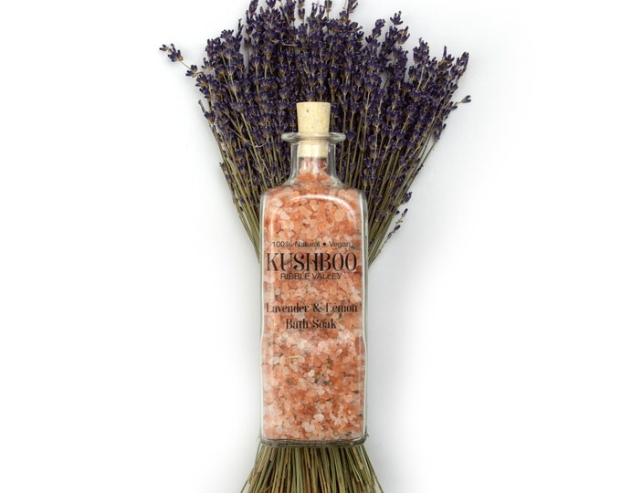 Lavender & Lemon Essential Oil Bath Soak