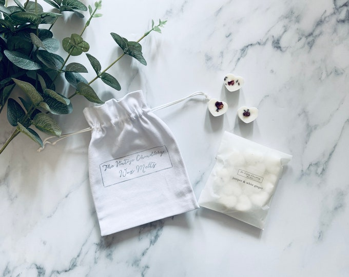 Wax Melts with cotton drawstring bag option