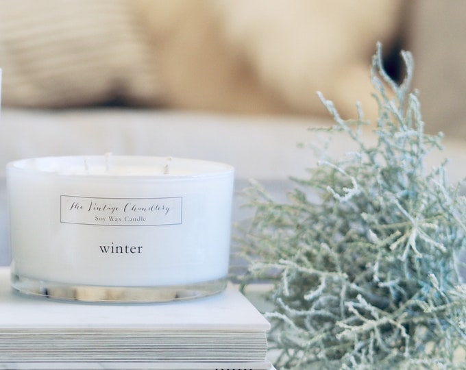 Three wick soy wax candles