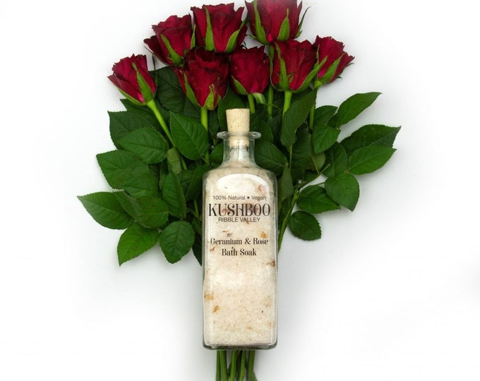 Geranium & Rose Essential Oil Bath Soak