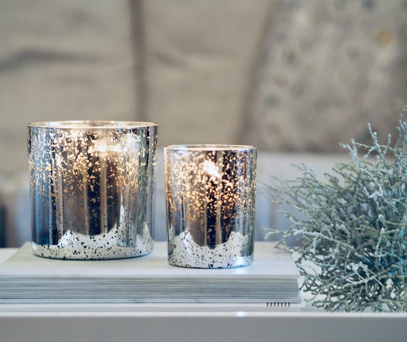 Luxury Silver Mercury Candles