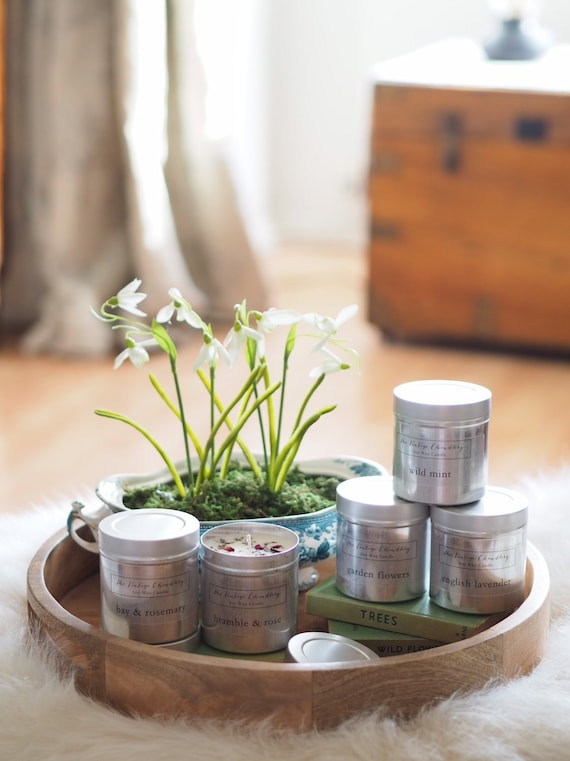 Cottage Garden Collection Zinc Candles
