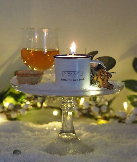 Vintage Scandi enamel Christmas Eve candles