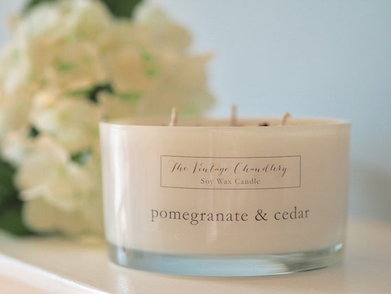 Boutique three wick soy wax candles