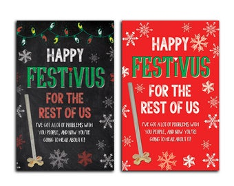 """Seinfeld Festivus """"For the Rest of Us"""" Holiday 5x7 Cards"""
