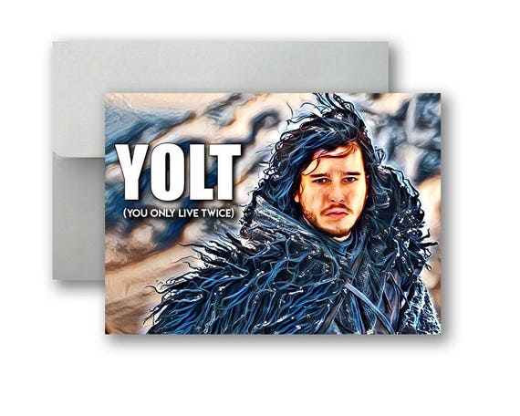 Postcard Winter is coming Postcard for postcrossing. Jon Snow Game of Thrones
