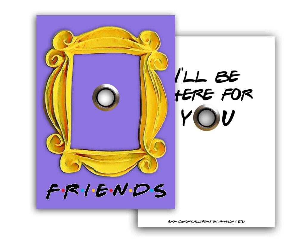 Freunde Friends lila Tür gelben Rahmen Postkarte Ich | Etsy