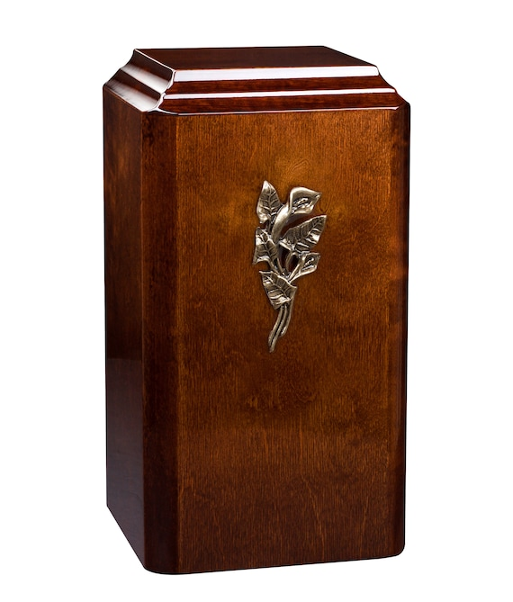 Unique wooden Cremation urn for adult Beautiful Human funeral Urn High Gloss