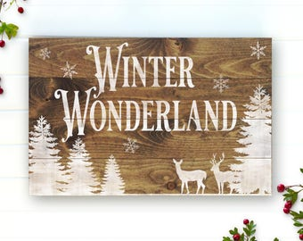 Winter Wonderland - Winter Decor - Christmas Decor - Holiday Decor - Christmas Signs - Holiday Wall Decor - Winter - Farmhouse Decor - Signs