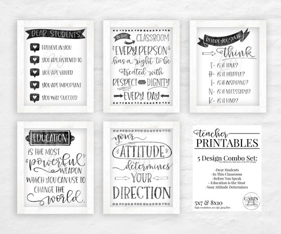 picture about Printable Money for Classroom referred to as Clroom Decor - Clroom Decorations - Clroom Printables - Clroom Indicators Printable - Trainer Printables - Clroom Print - Fastened of 5