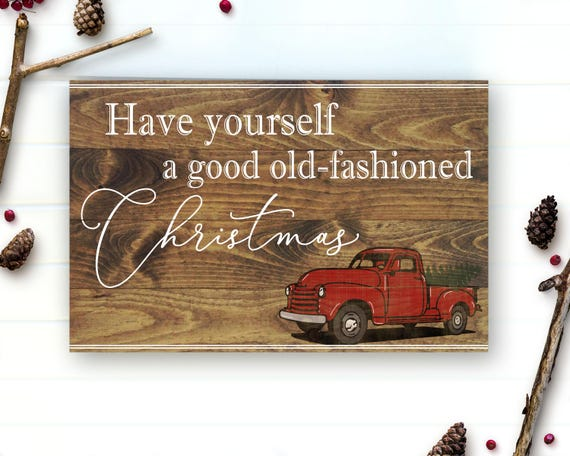 image 0 - Red Truck Christmas Decor