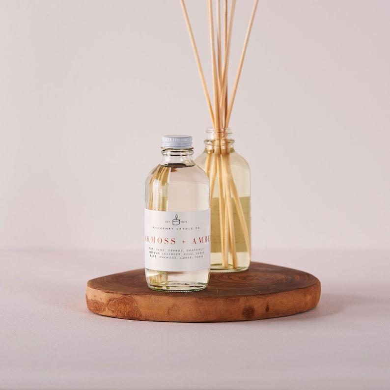 Reed Diffuser, Oakmoss + Amber, Organic, Housewarming Gift, Wholesale, Kid  Safe, Vegan, Natural, Home, Calming