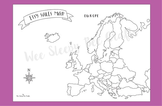 Map Of Europe For Sale.Etsy Sales Map Of Europe Colouring Page Digital Download Pdf Etsy