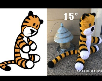 "15"" Tiger Doll Inspired by Calvin and Hobbes Amigurumi Plush"