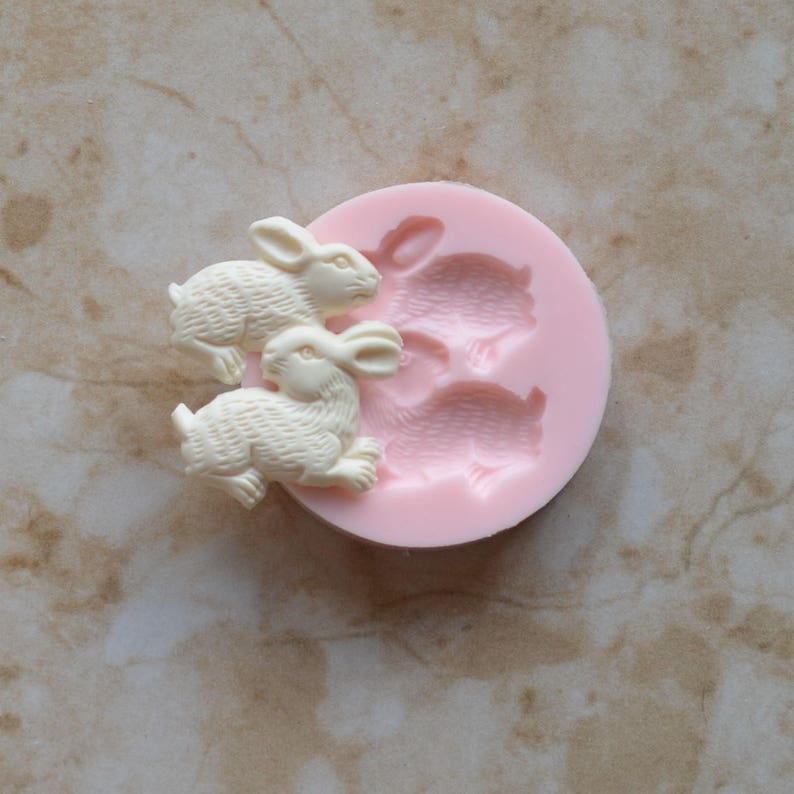 Cake Clay Farm Animal Rabbit Silicone Mold Cooking Cookies A358-20 Candy Chocolate Jewelry Silcone Molds