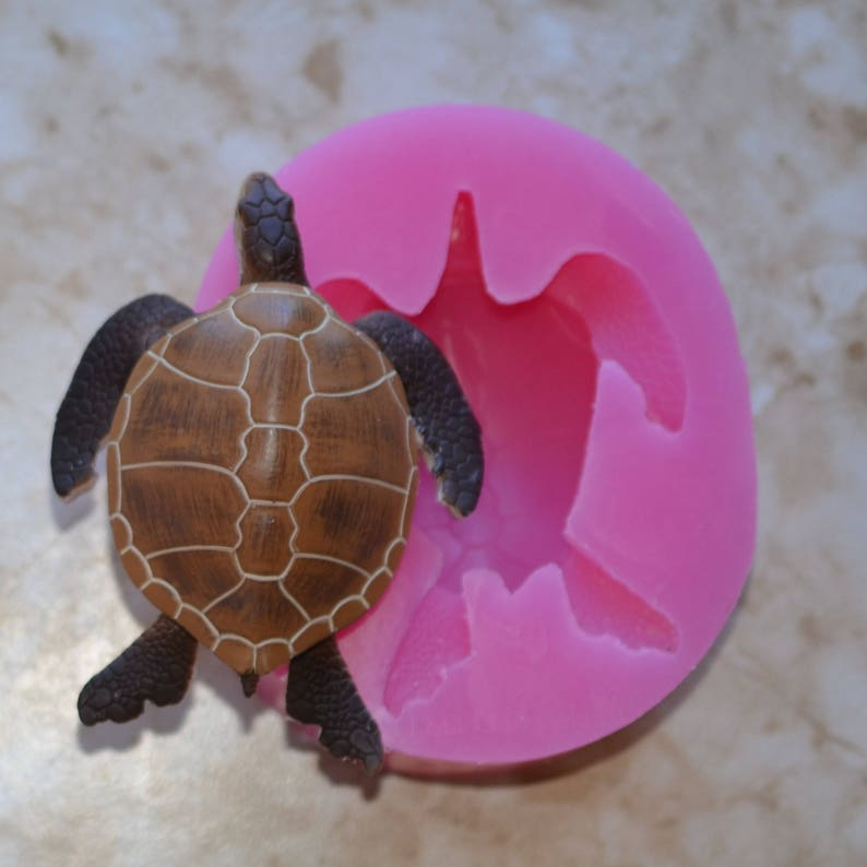 Turtle Silicone Mold, silcone, Molds, Cake, Candy, Nautical, Fish, Cooking,  Jewelry, Beach, Chocolate, Animal A443-300