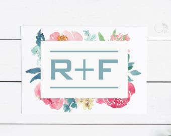 Rodan and Fields Modern Floral Thank You Card -- R+F Stationary Customer Thank You -- Gift for Her