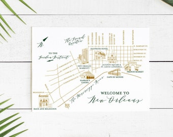 NOLA Wedding Map -- Customize for your city or theme!
