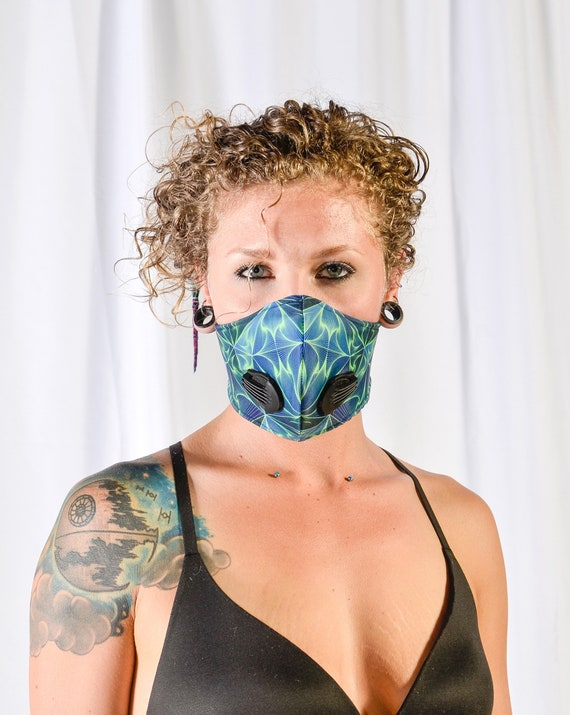 Electric Blue filtered mask