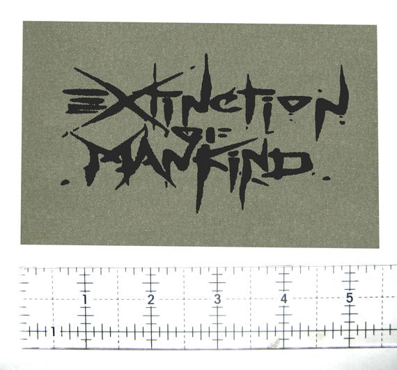 Extinction of Mankind Crust Punk Patch Phobia Inepsy Wolfpack Wormrot D-beat