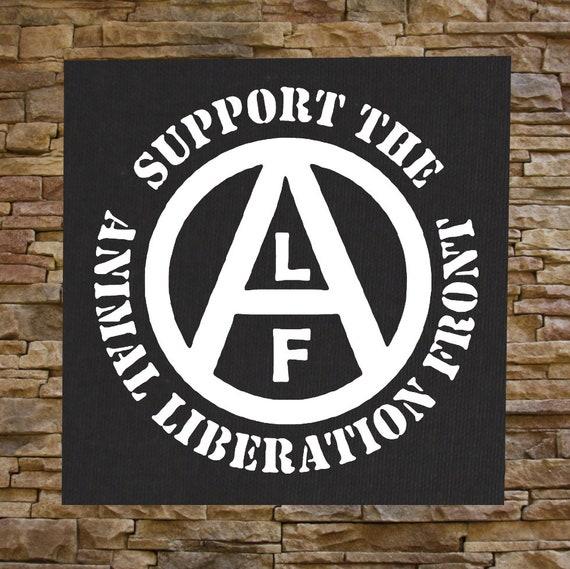 Animal Liberation Front Patch ALF Animal Welfare Rights Punk Vegetarian Vegan