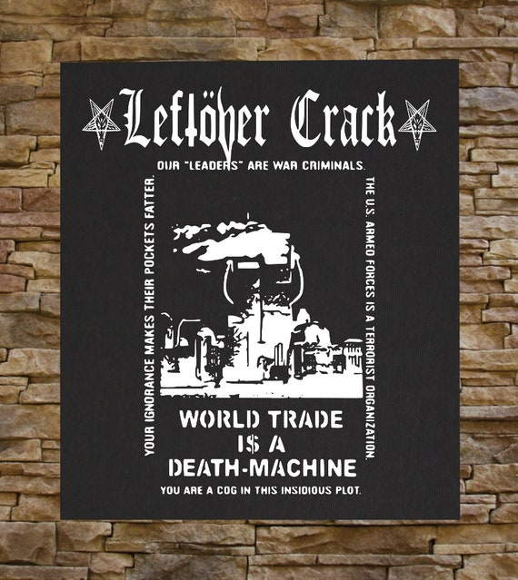 Leftover Crack BACK PATCH Anarcho Punk Crust Ska Choking Victim Star  Hipsters Citizen Fish No Cash The Infested Morning Glory F-minus
