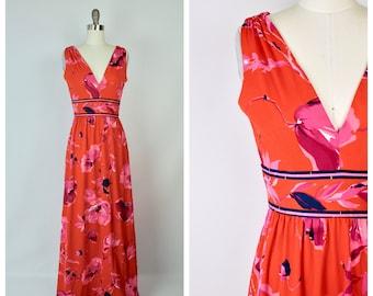 1970s hippie hostess dress / small