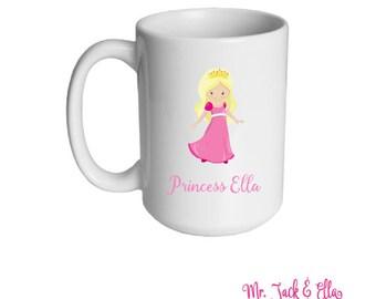Princess Personalized Mug - Girls Mug - Childrens Mug