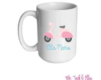 Scotter Personalized Mug - Girls Mug - Childrens Mug