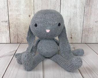 Floppy Bunny, Stuffed Animal, Knit Toy, Knit Bunny, Stuffed Bunny, Baby Gift, Bunny Doll, Plush Toy, Soft Toy, Knit Stuffed Animal, Handmade