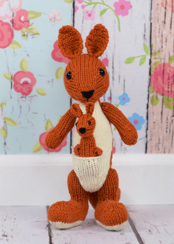 Kangaroo Stuffed Animal Gender Neutral Baby Gift Kids Toy Etsy