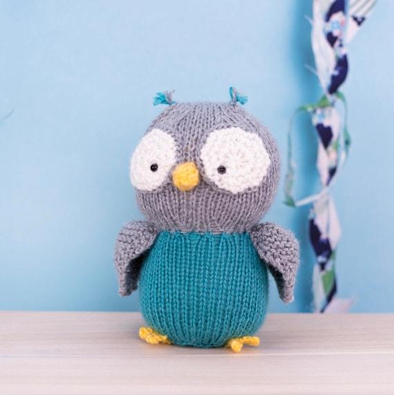 Stuffed Owl Knit Owl Plush Toy Stuffed Animal Baby Gift Etsy