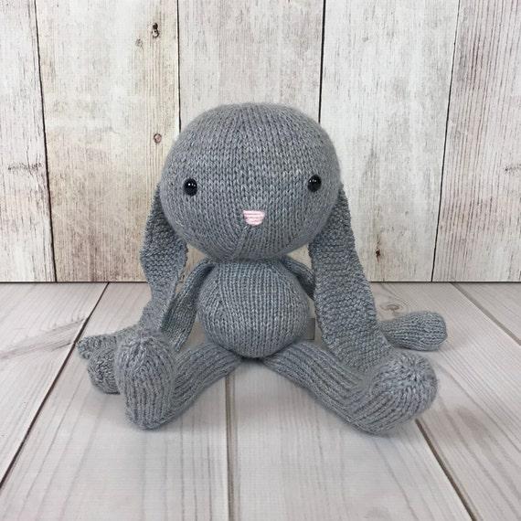 Floppy Bunny Stuffed Animal Knit Toy Knit Bunny Stuffed Etsy