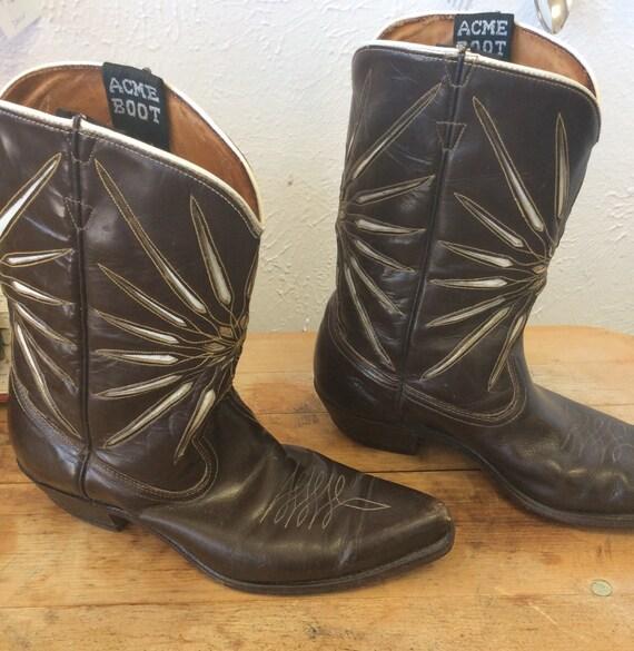 Vintage Acme Starburst cowboy boots. Peewee cowboy