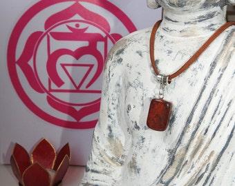 Root Chakra Necklace - Red Jasper Pendant - Healing Crystals - 7 Chakras - Muladhara - Grounding - 1st Chakra - I AM - Chakra Jewlery - Gift