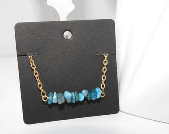 Gemstone bar bracelets - 12 gemstones available - delicate mineral bracelet - gold chain gemstone bar bracelet - Fluorite - Lapis - Peridot
