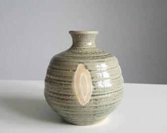 Mid century modern weed pot, midcentury vase, vintage pottery, weed pot, bud vase