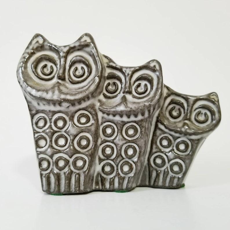 Ester Wallin Owl Family for Upsala Ekeby Sweden