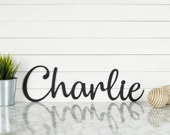 Personalized Metal Name Sign | Nursery Sign | Playroom Sign | Baby Name Sign | Kids Room Decor | Boys Bedroom Decor | Girls Room Decor