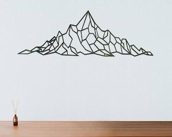 Geometric Mountain Range Metal Art
