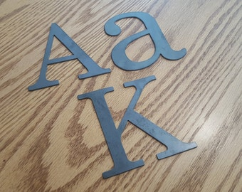 "8"" Metal letters, numbers and signs (8 inches tall)"