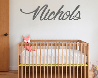 Custom Metal Name Sign - Playroom, Nursery, Family Name and more!