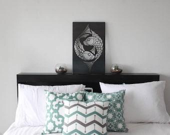 Koi Fish Metal Art (Pisces Symbol)